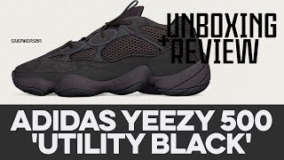 UNBOXING+REVIEW - Adidas Yeezy 500 'Utility Black'