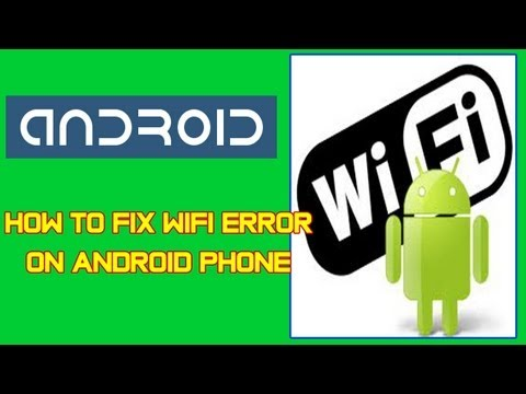 How To Fix WiFi Error On Android Phone