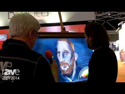 ISE 2014: Baanto Demos Amazing New Touch Technology, Artist Painting for Joel Rollins
