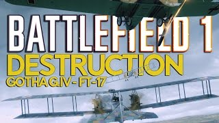Battlefield 1 Bomber & Light Tank DESTRUCTION!!!