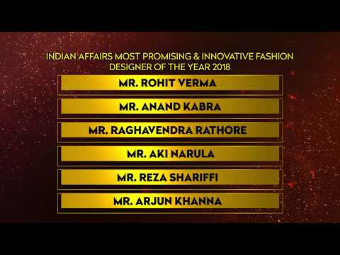 Indian Affairs Most Promising & Innovative Fashion Designer of the Year 2018