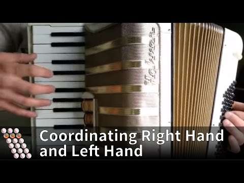 Accordion tutorial - How to coordinate right hand and left hand