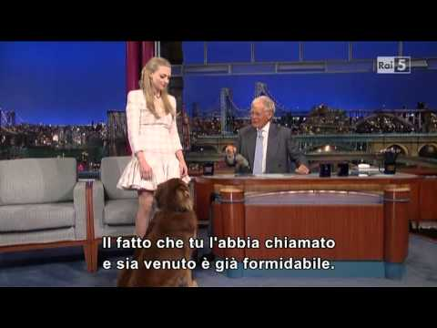 Amanda Seyfried al David Letterman 30-07-2013 (sub ita)