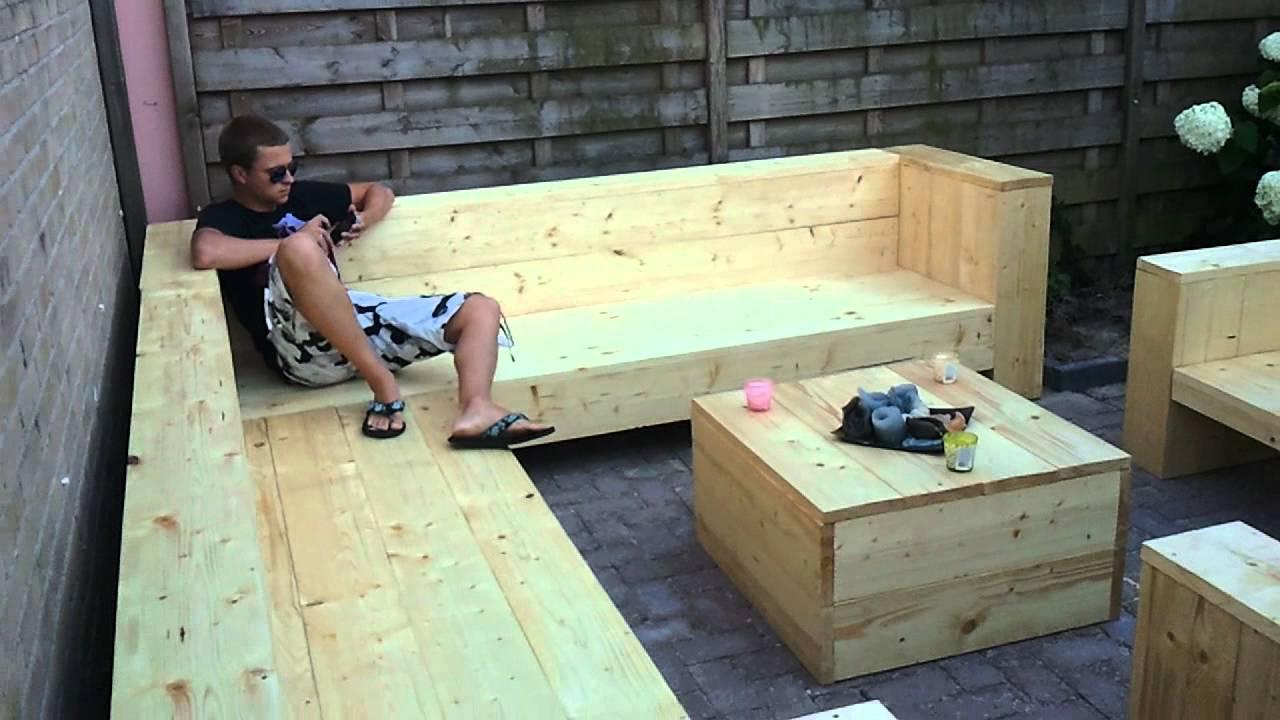 Loungeset Steigerhout - YouTube