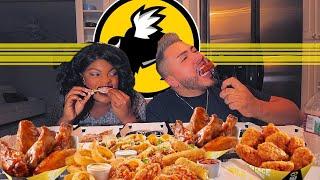 Buffalo Wild Wings & Onion Rings MUKBANG  방 • 5,600 Calorie FEAST