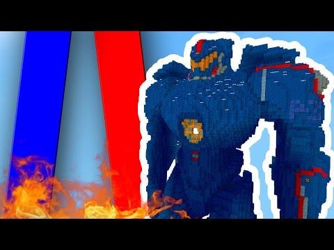 СТОЛБЫ С ОГРОМНЫМИ ВОЕННЫМИ РОБОТАМИ - НОВАЯ МИНИ-ИГРА в Minecraft