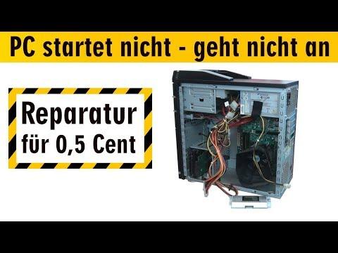PC startet nicht - geht nicht an | Reparatur für 0,5 Cent | Computer ohne Funktion - [4K]