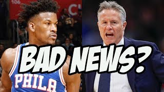 "Jimmy Butler ""Aggressively Challenges"" Brett Brown - Should The 76ers Be Worried?"