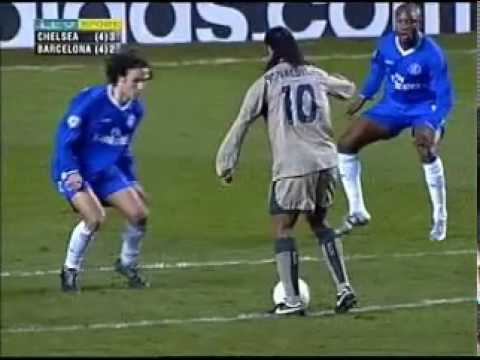 Ronaldinho Goal For Barcelona V Chelsea At Stamford Bridge In 2005 video