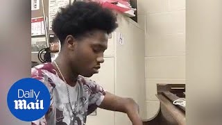 Teen Born With Four Fingers Plays Original Song on Piano