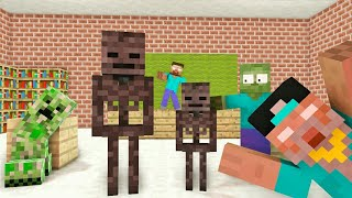 WITHER SKELETON REMEMBER KIDS - MONSTER SCHOOL - MINECRAFT ANIMATION