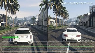 Grand Theft Auto 5 PS4 vs Core i3 4130/GTX 750 Ti Frame Rate Tests