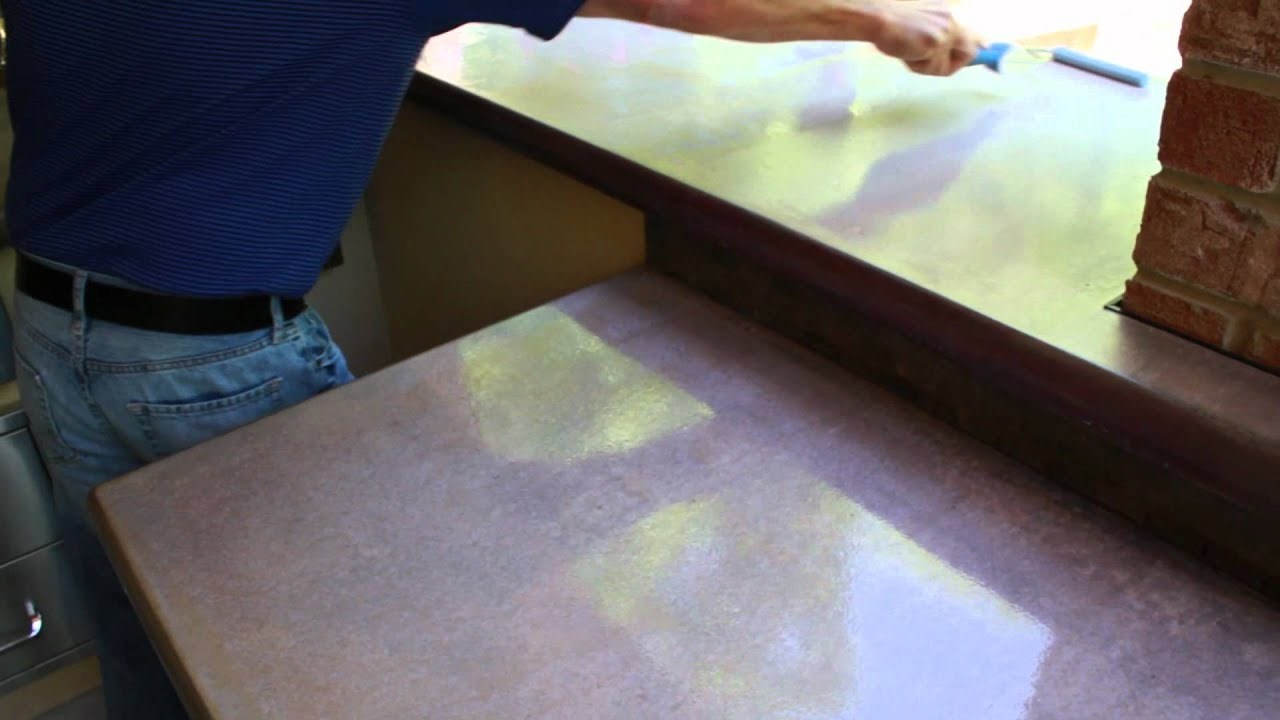 how to seal and polish your concrete countertops z counterform youtube. Black Bedroom Furniture Sets. Home Design Ideas