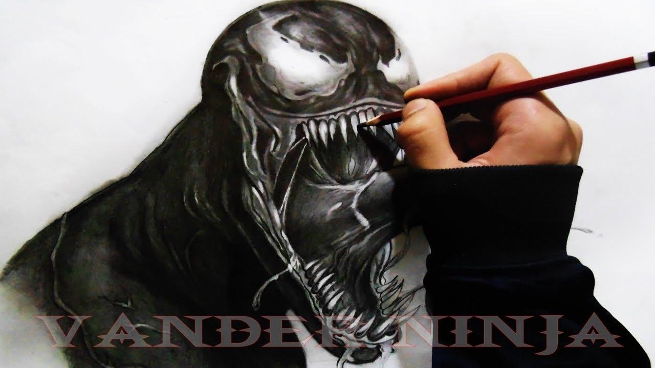 Venom Spiderman Drawing DRAWING VENOM  Spider Man  By