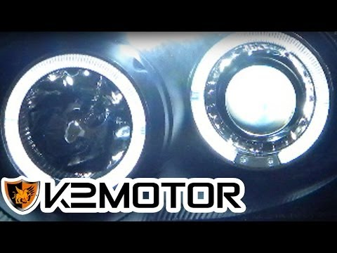 K2 MOTOR INSTALLATION VIDEO: HALO LED PROJECTOR HEADLIGHTS WIRING INSTALLATION
