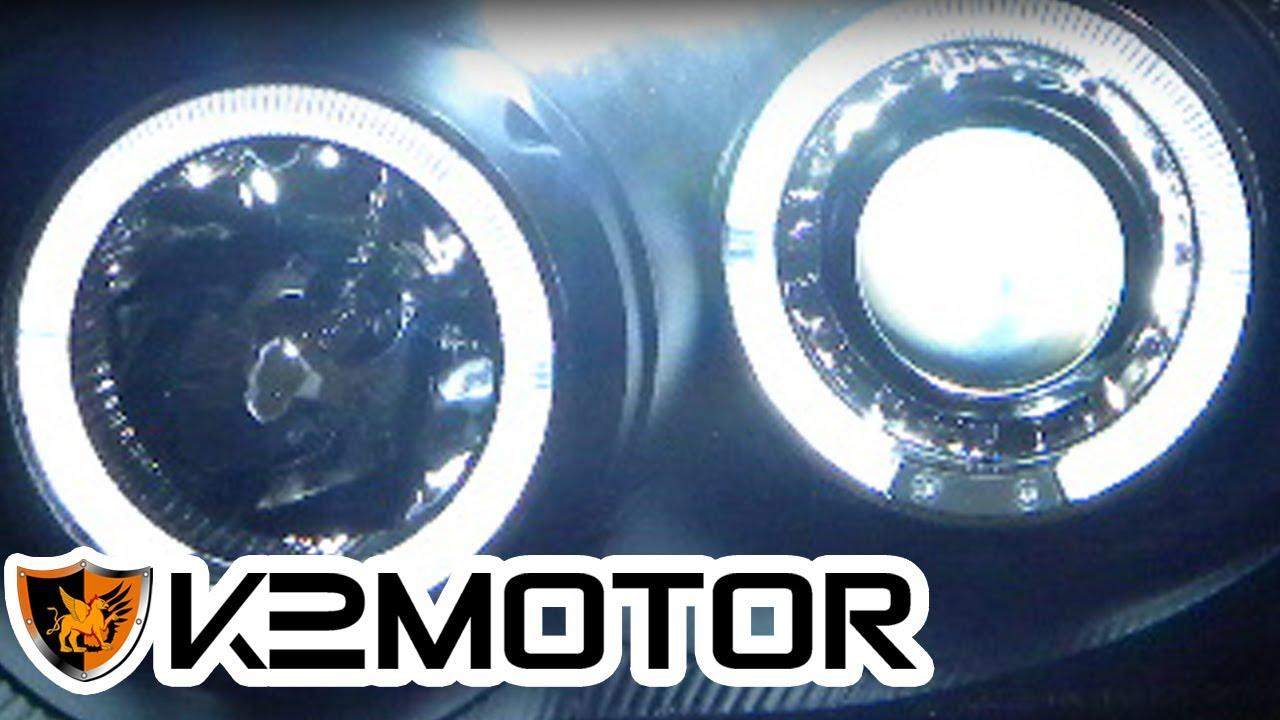 k2 motor installation video  halo led projector headlights