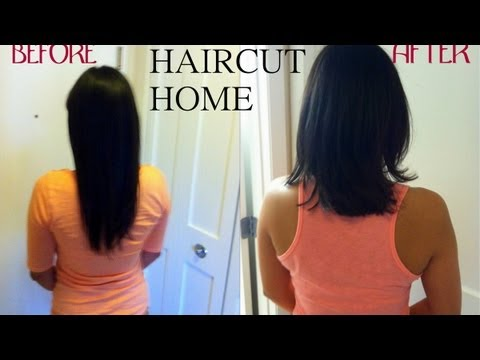 How To Cut Celebrity Haircut At Home For LONG HAIR Step
