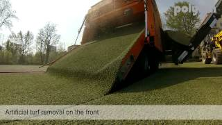 Polytan TurfMuncher - Removal of Artificial Turf
