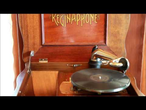 Reginaphone Disc Music Box playing 78 RPM record : Wedding of the Winds