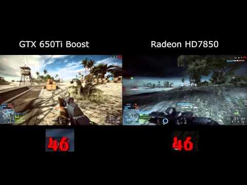 GTX 650Ti Boost VS Radeon HD7850 Battlefield 4 Multiplayer w/ FPS