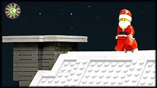 How Santa Claus Got Stuck In The Chimney. Lego Christmas.