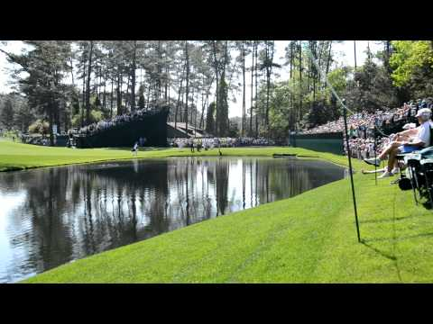 Masters 2012 Martin Kaymer Hole In One on 16 Skips It Across the Water