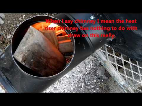 Countertop Rocket Stove : stove pipe rocket stove heater 55 gallon drum version first good ...