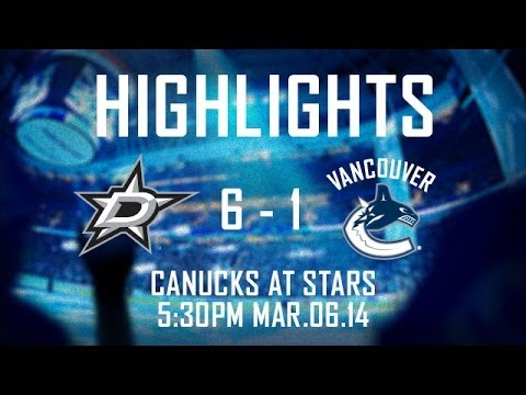 Canucks at Stars Highlights (Mar. 6, 2014). klip izle