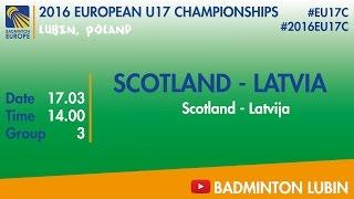 Шотландия до 17 : Латвия до 17