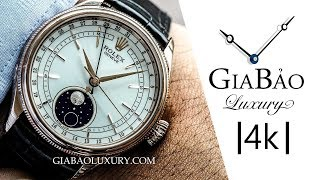 Review trên tay đồng hồ Rolex Cellini Moonphase 50535