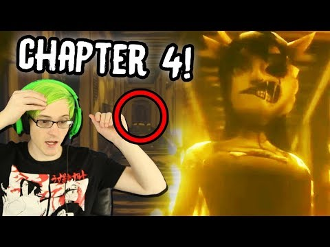 BENDY CHAPTER 4 REVEAL SECRETS! | Bendy And The Ink Machine Chapter 4 Trailer (Reaction)