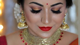 TRADITIONAL DIWALI LOOK 2018 | INDIAN FESTIVAL MAKEUP TUTORIAL