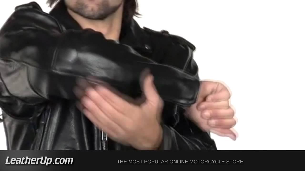 Xelement B7130 Men S Black Buffalo Leather Armored Classic