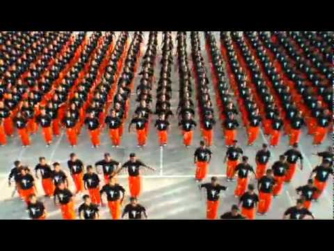 Prison's flash mob.Michel Jackson's song(its realy nice)