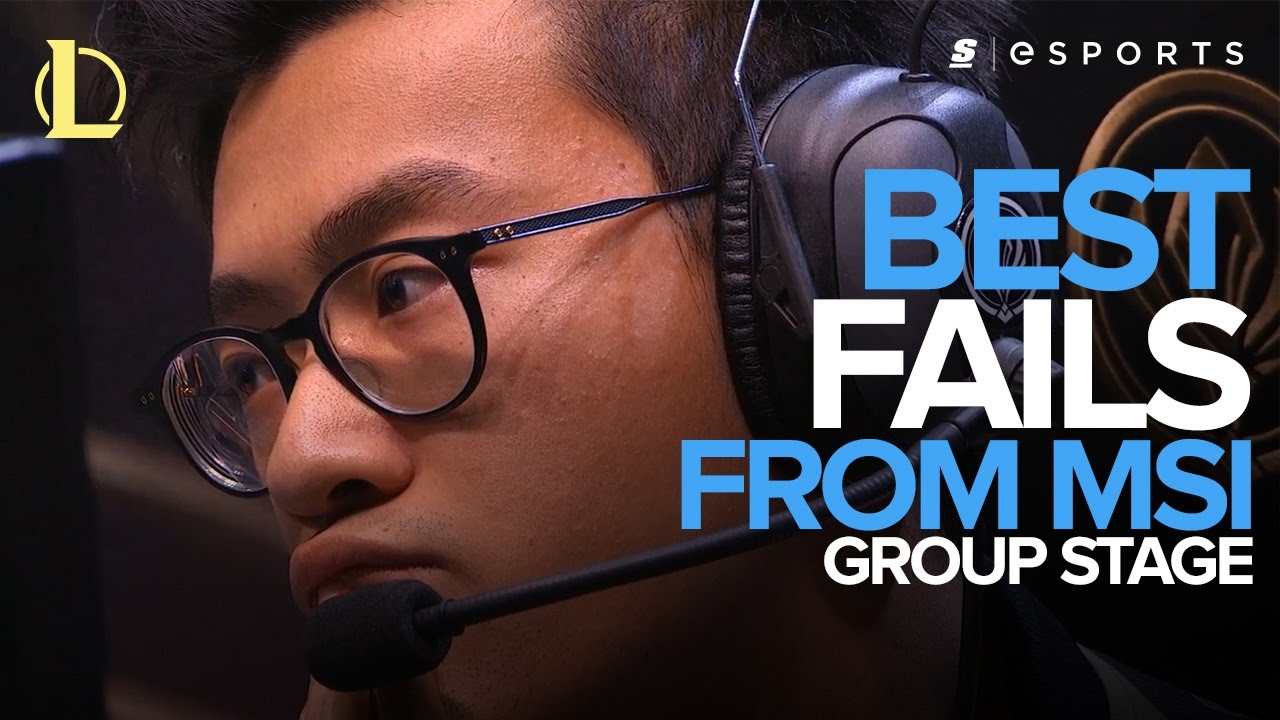 Best FAILS from the 2017 MSI Group Stage