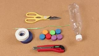 Cómo hacer unas Maracas con Botellas de Plástico. Juguetes Divertidos. Manualidades para Niños