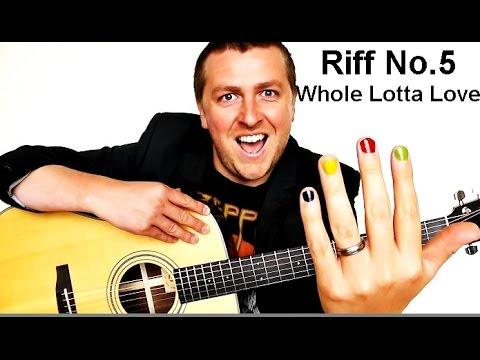 Easy Beginner Guitar Lesson - Whole Lotta Love - Riff No.5