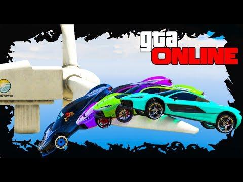 ГОНКИ С ВЕТРЯКАМИ УГАР И ПОЛНЫЙ ХАУС В GTA 5 ONLINE (ГТА 5 ОНЛАЙН) - ROOF