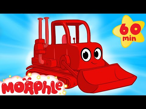 My Red Bulldozer + 1 Hour Kids Videos compilation - Digger + Firetruck - My Magic Pet Morphle