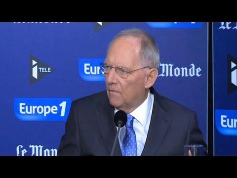 """Wolfgang Schäuble sur les réfugiés : """"La solidarité ne peut pas être à sens unique"""""""