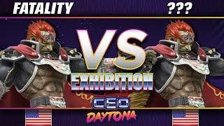 Fatality (Ganondorf) vs ??? (Ganondorf/Mewtwo) - SSBU Demo - CEO 2018