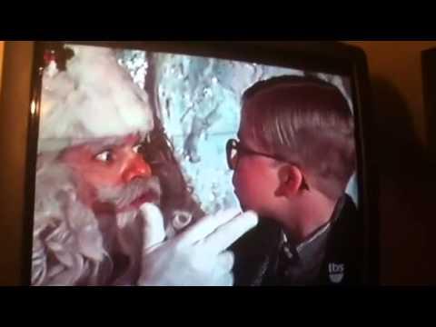 a christmas story kid gets tongue stuck to pole