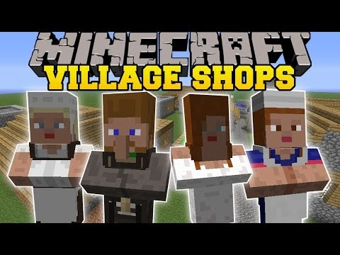 Minecraft: BETTER VILLAGE SHOPS (MORE VILLAGERS BUILDINGS AND...