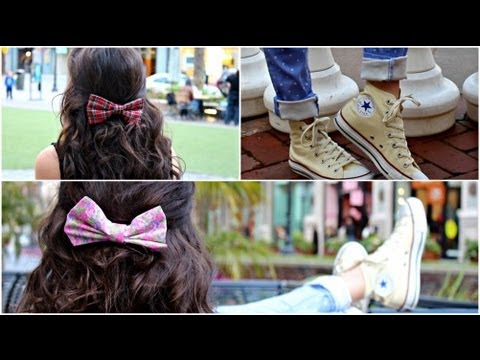 DIY Hair Bows! + How I wear/style my bows