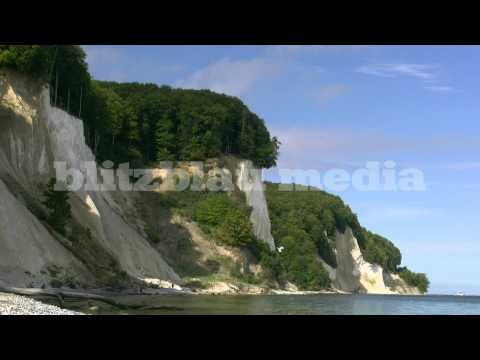 Stock Footage Europe Germany Baltic Sea Beach Rügen Island Chalk Cliffs Ostsee Kreidefelsen Travel