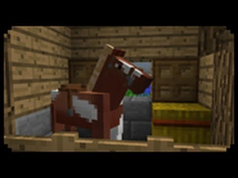 Minecraft how to make a horse stable youtube for How to build horse barn