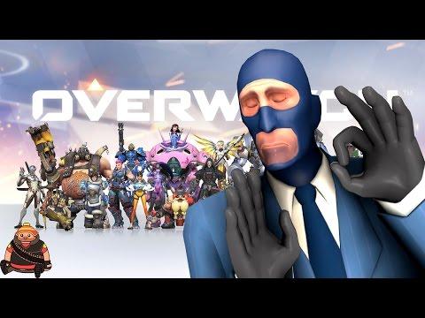 Overwatch vs TeamFotress 2 - русское сравнение героев!