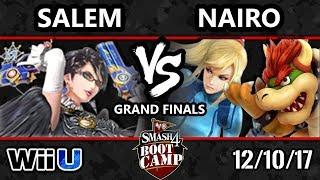 S4BC Smash 4 - NRG | Nairo (Bowser, ZSS) vs MVG | Salem (Bayonetta) - WiiU GF