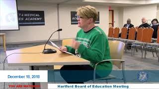 HBOE - Regular Board of Education - 12/18/2018