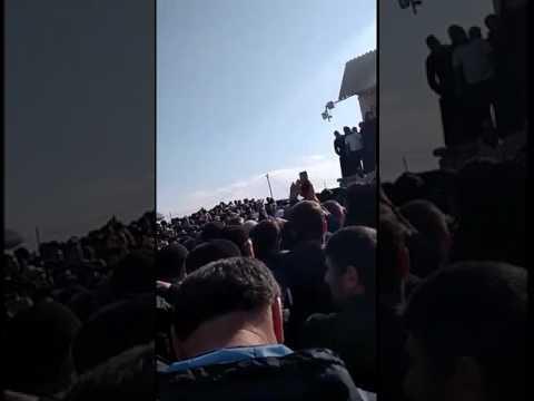 Журналист Максим Шевченко в лагере протестующих дальнобойщиков в Манасе. 18.04.2017